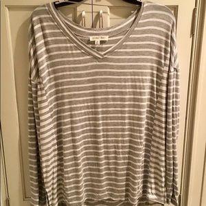 double zero long sleeve gray/white sz med